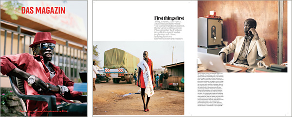 South Sudan - DAS cover and Guardian Weekend Magazine spread